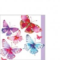 Servietten 25x25 cm - Aquarell Schmetterlingecm