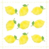 Cocktail Servietten Fashion Lemon allover