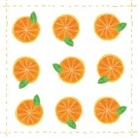 Cocktail Servietten Fashion Orange allover