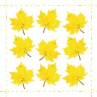 Servietten 25x25 cm - Fashion Leaf allover *