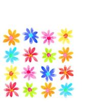 Servietten 25x25 cm - Aquarell Blumenfelder