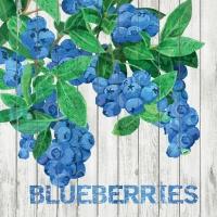 Cocktail Servietten Harvest Blueberries