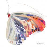 Servietten 25x25 cm - Korfu Schmetterling