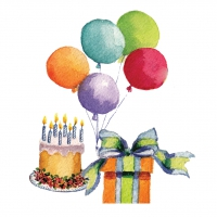 Servietten 25x25 cm - Birthday Bash