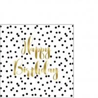 Servietten 25x25 cm - Birthday Confetti