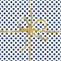 Cocktail Servietten Cadeau Deluxe Dots blue