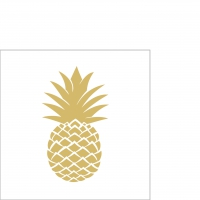 Cocktail Servietten Golden Pineapple