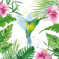 Servietten 25x25 cm - Tropischer Kolibri