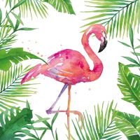 Servietten 25x25 cm - Tropischer Flamingo
