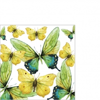 Servietten 25x25 cm - Green Butterflies
