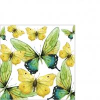 Servietten 25x25 cm - Grüne Schmetterlinge