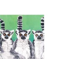 Servietten 25x25 cm - Lemur Amigos