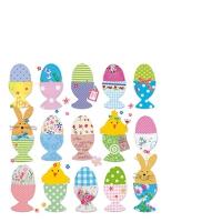 Servietten 25x25 cm - Easter Eggs