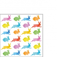 Servietten 25x25 cm - Aquarell Bunnies