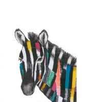 Servietten 25x25 cm - Regalia Zebra
