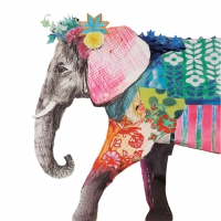Servietten 25x25 cm - Regalia Elefant