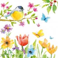 Servietten 25x25 cm - Spring Bird