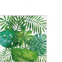 Servietten 25x25 cm - Feuilles Tropicales