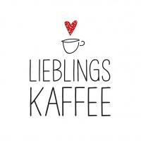 Servietten 25x25 cm - Lieblingskaffee