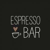 Servietten 25x25 cm - Espresso Bar