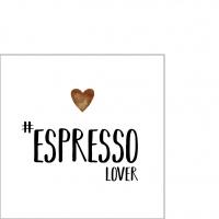Servietten 25x25 cm - Espresso lover