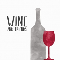 Servietten 25x25 cm - Wine Friends