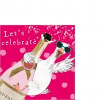 Servietten 25x25 cm - Let´s celebrate