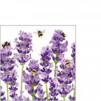 Servietten 25x25 cm - Bees & Lavender