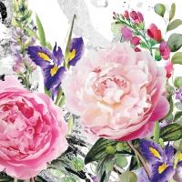 Servietten 25x25 cm - Jardin des roses
