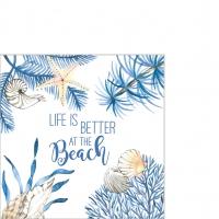 Servietten 25x25 cm - Ocean Life is better Napkin 25x25