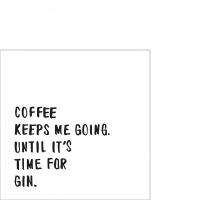 Servietten 25x25 cm - Coffee & Gin Napkin 25x25