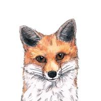 Servietten 25x25 cm - Fox