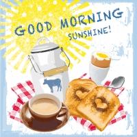 Servietten 33x33 cm - Morning Sunshine
