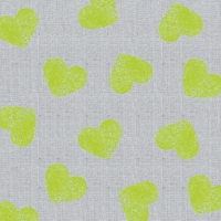 Lunch Servietten Fashion Hearts neon lime