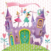 Servietten 33x33 cm - Princess Castle