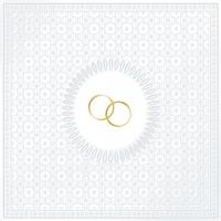 Lunch Servietten Medallion Wedding pearl