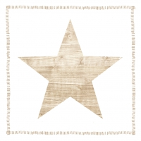 Servietten 33x33 cm - Star Fashion wood white