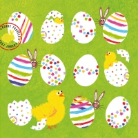 Lunch Servietten Eggs allover green