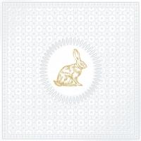 Lunch Servietten Medaillon Rabbit pearl