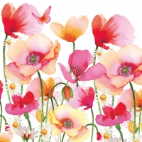 Lunch Servietten Aquarell Poppies