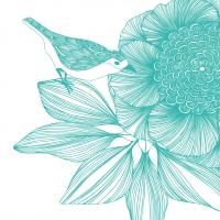 Servietten 33x33 cm - Victoria Flower