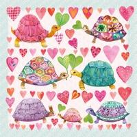 Servietten 33x33 cm - Schildkröten in Lovecm
