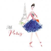 Lunch Servietten Paris City Girl