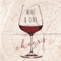 Lunch Servietten Wine & Dine red