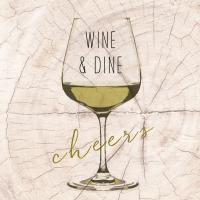 Lunch Servietten Wine & Dine