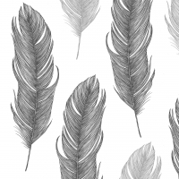 Servietten 33x33 cm - Elegant Feather