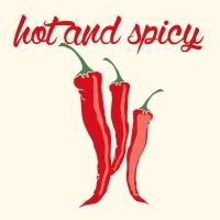 Lunch Servietten Spicy Chillies