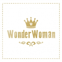 Servietten 33x33 cm - Wunderfrau goldcm