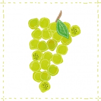 Lunch Servietten Fashion Grapes green