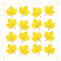 Servietten 33x33 cm - Fashion Leaf allover